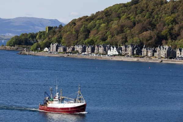 A fishing boat at Oban in Argyll and Bute, Scotland