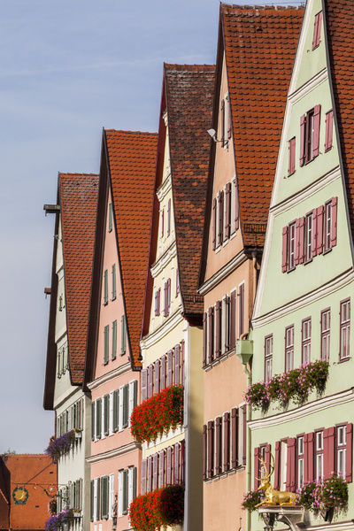 Houses in the main street of Dinkelsbühl in Germany