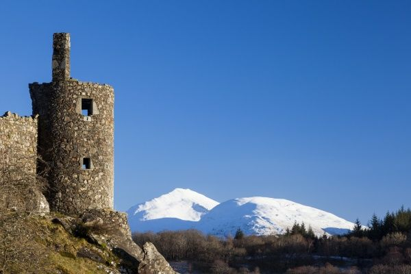 Kilchurn Castle beside Loch Awe in Argyll and Bute, Scotland