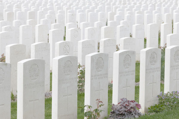 Tyne Cot Commonwealth War Graves Cemetery, Belgium. This is near the village of Passendale in the West Flanders province of Belgium
