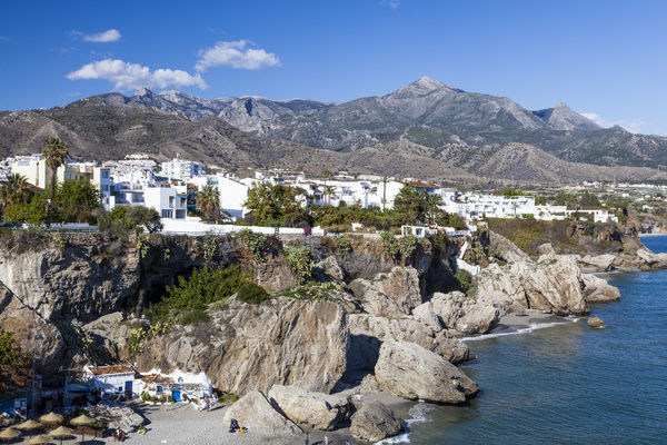 A view of the resort of Nerja in Spain