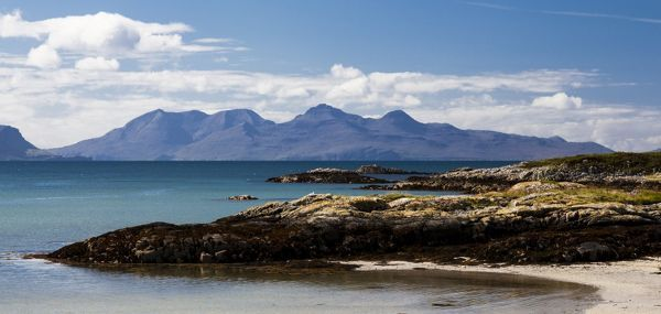 The view to Rum from Arisaig, Scotland